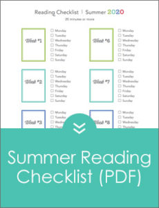 Summer Reading Checklist