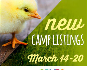 New Camp Listings (March 14-20)