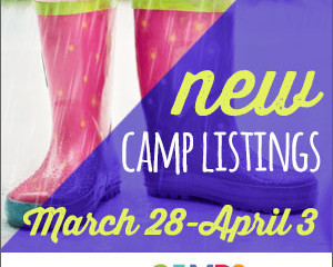 New Camp Listings (March 28 – April 3)