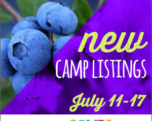 New Camp Listings (July 11-17)
