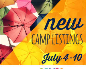 New Camp Listings (July 4-10)